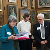 Louise with the evening's honorees, Judith Wink and Michael Zumoff