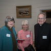 Louise Basbas,  Eleanor McGee and Fr. Ray Rafferty