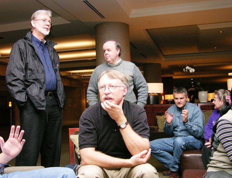 David Stevenson, Doug Henig, Carl Warner (behind Doug), Jim Duffy, Cindy Winegarden