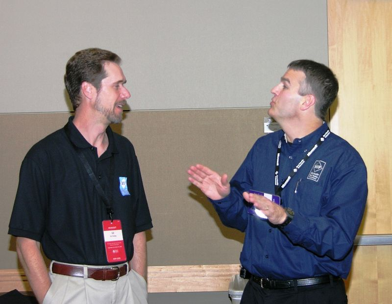 Ed Hicks (left), Jim Duffy<br /> Duffy: It was smooooth!<br /> Ed: Yeah