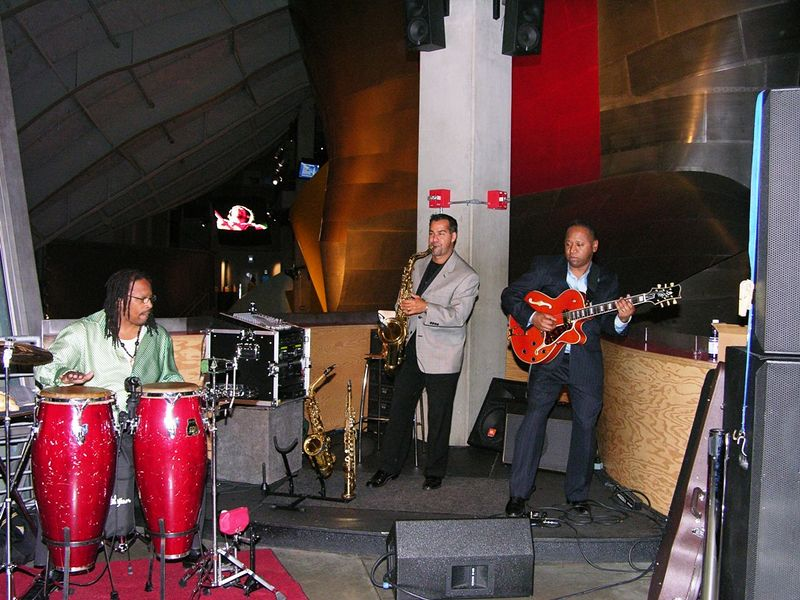 The band at the EMP/Sci-Fi Museum party