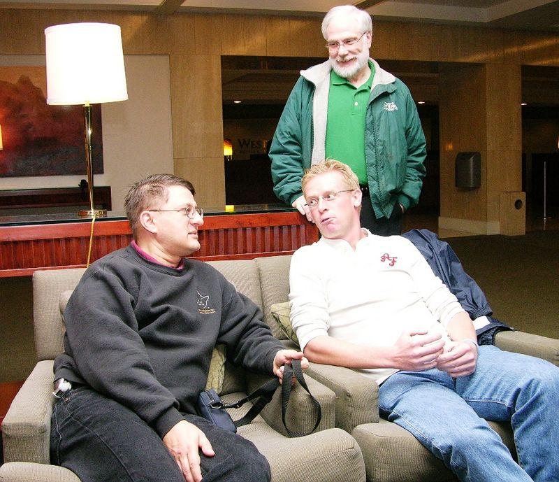 Craig Berntson, Maurice de Beijer, Rick Bean (standing)