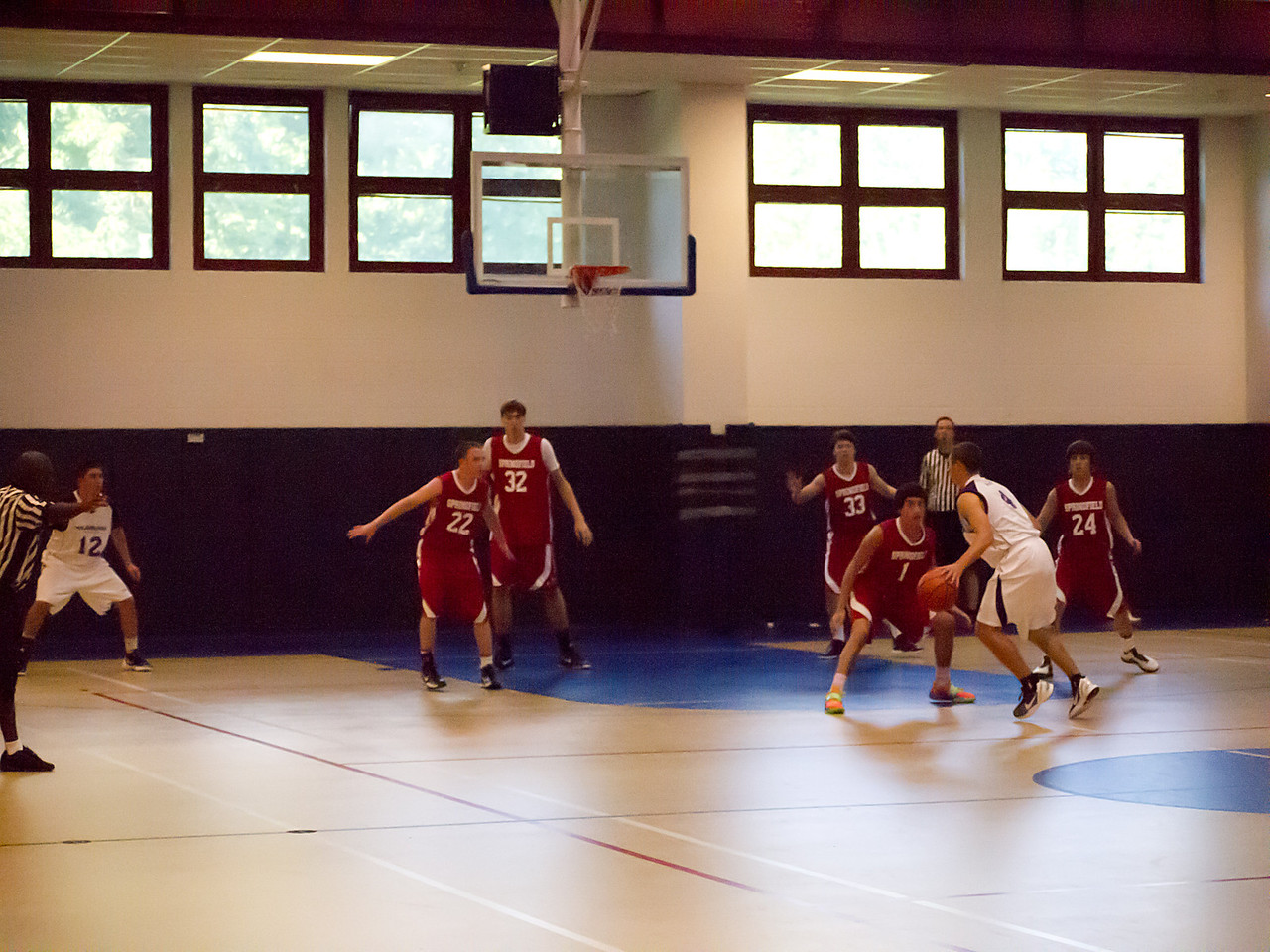 Philadelphia vs Springfield: 4th period, 4:17PM.  #33 is Akiva.  Don't look too close, it's blurry.