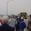 Bridge Walk - the back of Allen in the gray sweat shirt