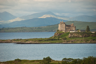 Back home at Kilpatrick, The Coah House, looking across to Duart Castle
