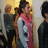 Backstage<br /> Models and support staff congregate behind the scenes of the Macy's InC Fasion Show.