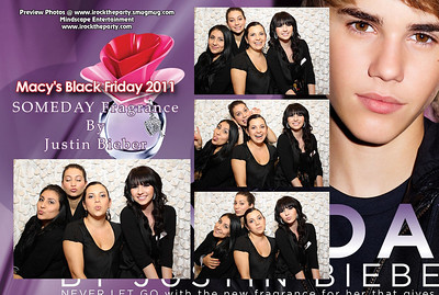 Macy's Montebello Black Friday 2011- Justin Bieber Promo - Photo Booth Pictures