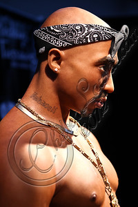 HOLLYWOOD, CA - JUNE 16:  A view of the new wax figure of music icon Tupac Shakur at Madame Tussauds on June 16, 2012 in Hollywood, California.  (Photo by Chelsea Lauren/WireImage)