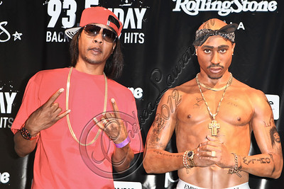 HOLLYWOOD, CA - JUNE 16:  MC / producer DJ Quik (L) attends the launch of the wax figure of music icon Tupac Shakur at Madame Tussauds on June 16, 2012 in Hollywood, California.  (Photo by Chelsea Lauren/WireImage)