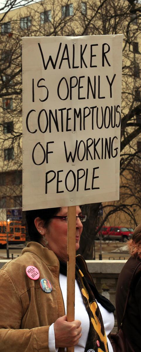 Madison Walker Labor Protest