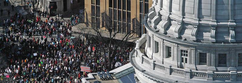 Union Members Protest Saturday Feb 19, 2011 Madison WI  #1