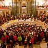 """Forget the Fox """"News"""" lies: Thousands of Wisconsinites protesting peacefully for their rights."""