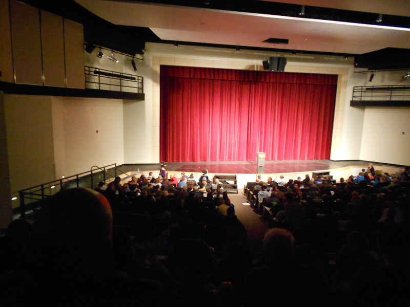 We saw a magic show at Union high school with Dan and Amy.