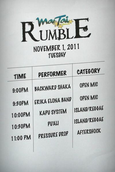 Mai Tai Rumble 11-1-11