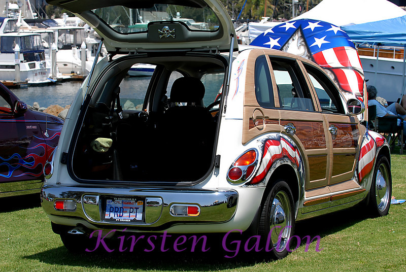 Stars and Stripes PT Cruiser.  One Proud Cruiser.