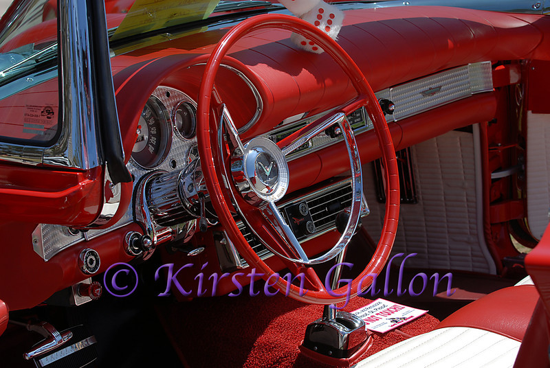 Interior of an amazing 1957 Ford Thunderbird.