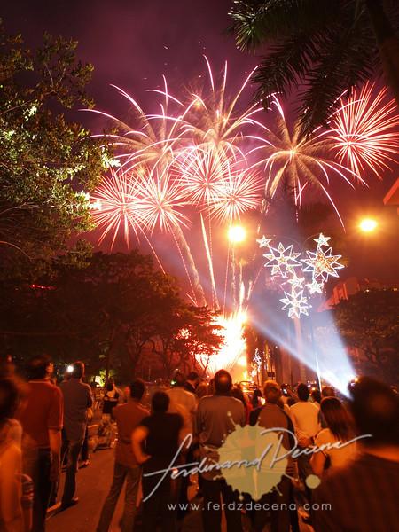 The fireworks along Makati Avenue