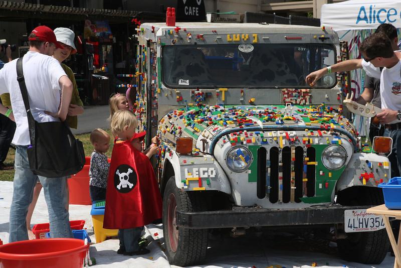 Lego Jeep.  Kid magnet.