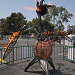 Everyone loved the pyro maniac sculptures and other fire-breathing things.