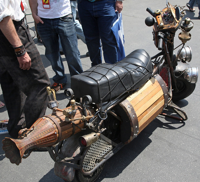 Rube Goldberg scooter.