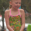 Delaney Edwards, 6, in the Dunk Tank.
