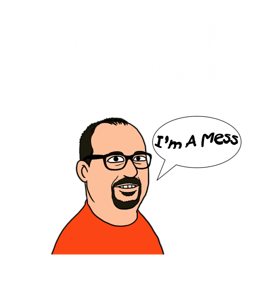 Manny Cartoon w Speach Bubble New Logo White