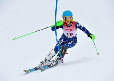 April 7th, 2013: Whistler,BC - Chelsea Kumono of Japan takes 3rd in the Whistler Cup Girls U14 Slalom race. Photo by Scott Brammer - coastphoto.com