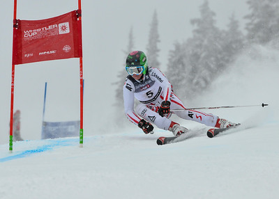 April 7th, 2013: Whistler,BC - Jens Harald Johannessen of Norway places 3rd in the Whistler Cup Boys U16 GS race. Photo by Derek Sautter - coastphoto.com