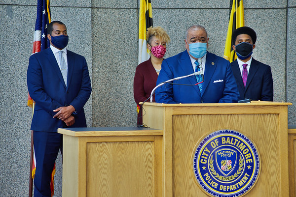 March 03, 2021 - Gun Trafficking Portal Press Conference at Baltimore Police Headquarters