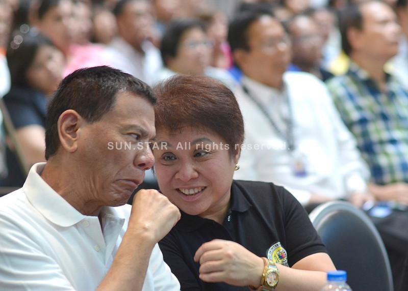 Mayor Rodrigo Duterte and Kim Henares