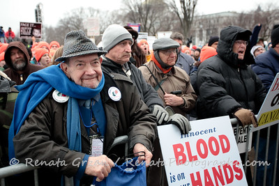 I was impressed to see quite a few older people weathering the elements for the Pro-Life cause.