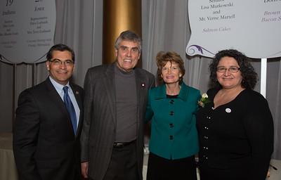Xavier Becerra (D-CA);  Dr. Carolina Reyes; Senator Lisa Murkowski (R-Alaska) and husband Verne Martell