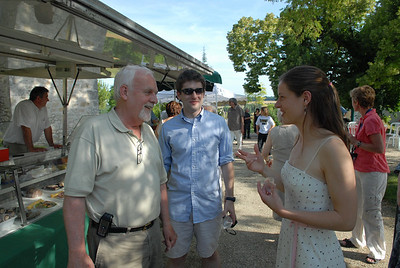 Charlotte, Ed and Brendan at the Marche Gourmand.