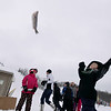 Record-Eagle/Keith King<br /> Ethan Childress, 8, of Royal Oak, competes in the frozen-fish toss Saturday, March 5, 2011 during Mardi Gras & Slush Cup Weekend at Shanty Creek Ski Resort.