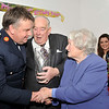 Image features L to R: Assistant Commissioner Fintan Fanning. Brian Kelly, Chairman of Dún Laoghaire branch Garda Retirement Association congratulating Margaret McNaught.<br /> Brian presented an inscribed bowl on behalf of the DL Branch GSRMA.<br /> <br /> For further information contact Eddie Ryan Tel.+353.87.2240439<br /> Photograph: Margaret Brown Tel. +353.86.8535557