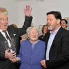Image features L to R - Brian kelly, Chairman of Dún Laoghaire branch Garda Retirement Association, Margaret McNaught, and Tom Dollard (Stackstown Set Dancers & The Voice) who sang Margaret's favourite song 'Danny Boy'. Brian presented an inscribed bowl on behalf of the DL Branch GSRMA.<br /> <br /> For further information contact Eddie Ryan Tel.+353.87.2240439<br /> Photograph: Margaret Brown Tel. +353.86.8535557