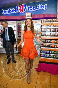 BURBANK, CA - OCTOBER 04:  CEO of Dunkin' brands / president of Dunkin' Donuts Nigel Travis (L) and actress Maria Menounos attend the launch of Dunkin' Donuts K-Cups at Baskin-Robbins on October 4, 2012 in Burbank, California.  (Photo by Chelsea Lauren/FilmMagic)