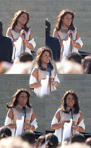 Denyce Graves, wearing a dress given to her by Marian Anderson -- Marian Anderson Tribute Concert, Easter Sunday 2009 featuring Denyce Graves (commemorating Easter Sunday 1939) at the Lincoln Memorial