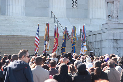 The color  guard -- Marian Anderson Tribute Concert, Easter Sunday 2009 featuring Denyce Graves (commemorating Easter Sunday 1939) at the Lincoln Memorial