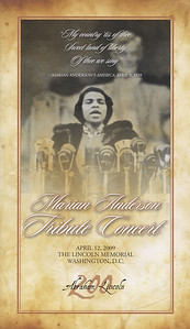 Easter Sunday, 2009 (April 12, 2009) Marian Anderson Tribute Concert featuring Denyce Graves at the Lincoln Memorial