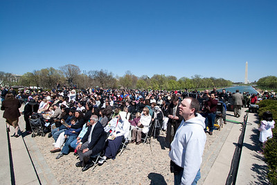 The front several rows were reserved for 200 immigrants about to become new citizens -- Marian Anderson Tribute Concert, Easter Sunday 2009 featuring Denyce Graves (commemorating Easter Sunday 1939) at the Lincoln Memorial