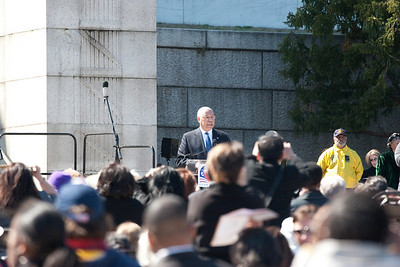 Gen. Colin Powell, former Secretary of State, reading parts of Lincoln's Second Inaugural Address -- Marian Anderson Tribute Concert, Easter Sunday 2009 featuring Denyce Graves (commemorating Easter Sunday 1939) at the Lincoln Memorial