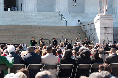 Sweet Honey in the Rock -- Marian Anderson Tribute Concert, Easter Sunday 2009 featuring Denyce Graves (commemorating Easter Sunday 1939) at the Lincoln Memorial