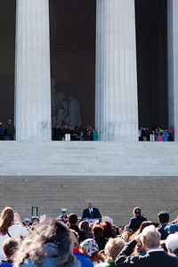 Gen. Colin Powell, former Secretary of State, speaking to new citizens -- Marian Anderson Tribute Concert, Easter Sunday 2009 featuring Denyce Graves (commemorating Easter Sunday 1939) at the Lincoln Memorial