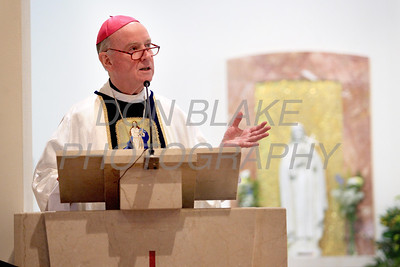 Bishop Malooly delivers his homily during mass at the  Biennial Diocesan Marian Pilgrimage this year at the Shrine of Our Lady of Peace at Holy Spirit Church,  Saturday, October 22, 2011. photo/Don Blake Photography