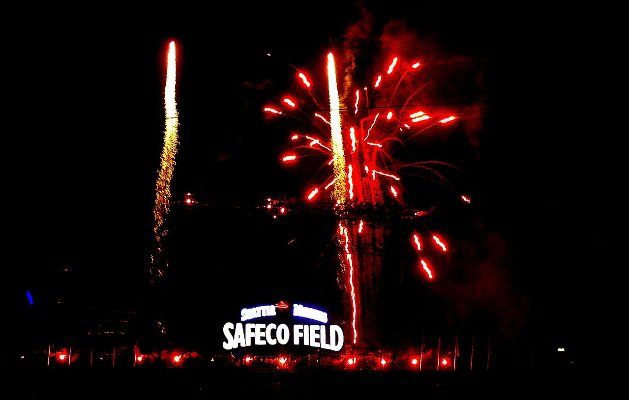 Mariners game fireworks 6/29/13