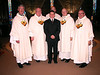Frater Mark with Fr. Tom Cassidy, Dn. David Nagel, Fr. Charles Bisgrove, Fr. Richard MacDonald, and Fr. Yvon Sheehy.