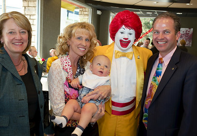 Baccarat crystal chandeliers, sconces, pendant lights decorate McDonald's restaurant located 3700 Paradise Road at Twain in Las Vegas Mayor Oscar Goodman and Carolyn Goodman on hand for the opening of Tom Arlt's 35th McDonalds restaurant.