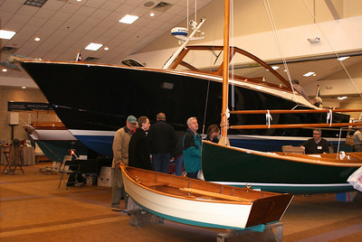 RUSSELL L FRAYRE 021311 One of a kind hand built boats captured the interest of many Cape Codders at teh 5th Annual boat builders show in Hyannis.  Local artisans featured their wrk.