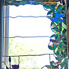 Stained glass window in the nursery